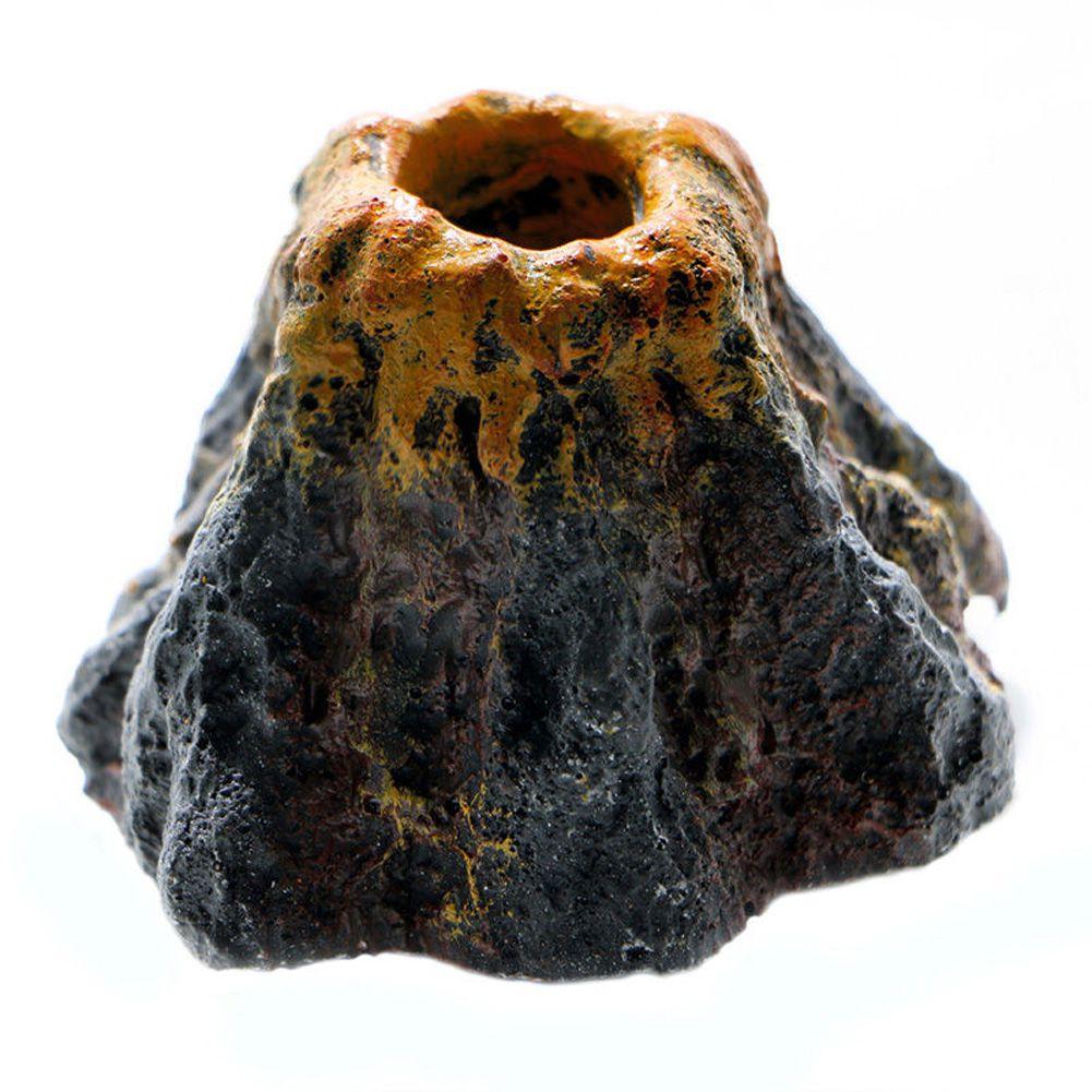 Enfeite Vulcão Com Pedra Porosa Para Aquário