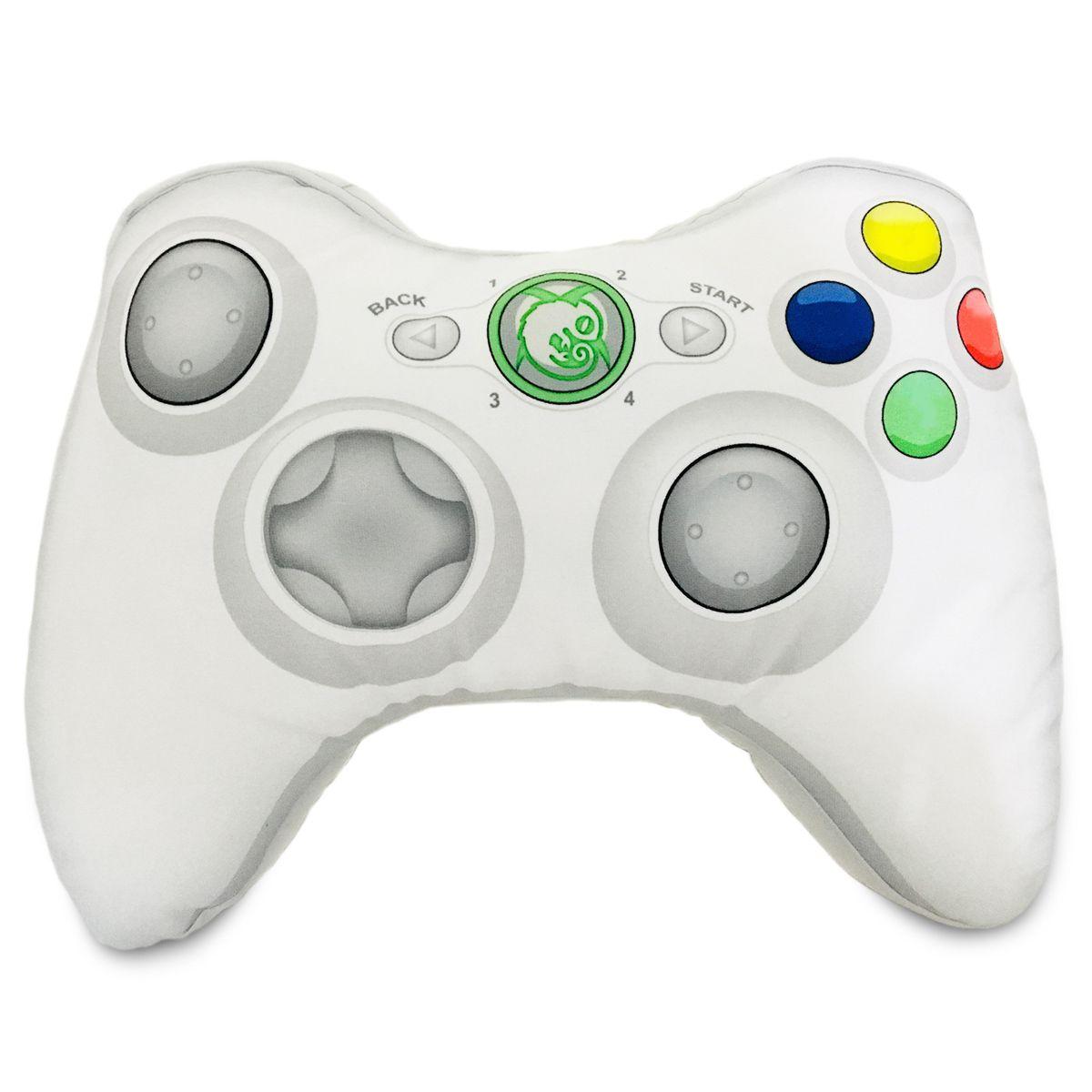 Almofada Gamer Formato De Controle De Video Game Xbox 360 Branca