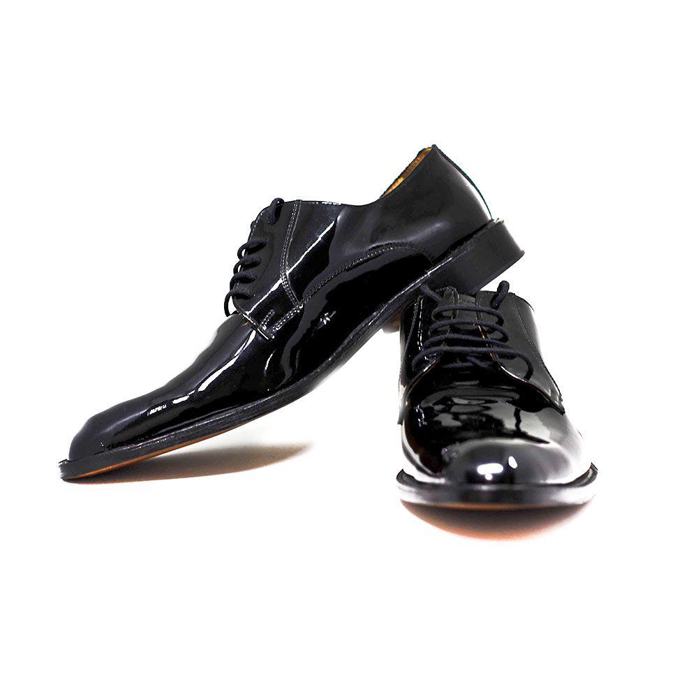 Sapato de Couro Brilhoso