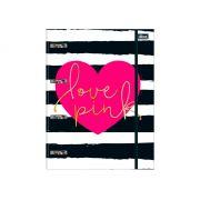 Caderno Argolado/Fichário Love Pink