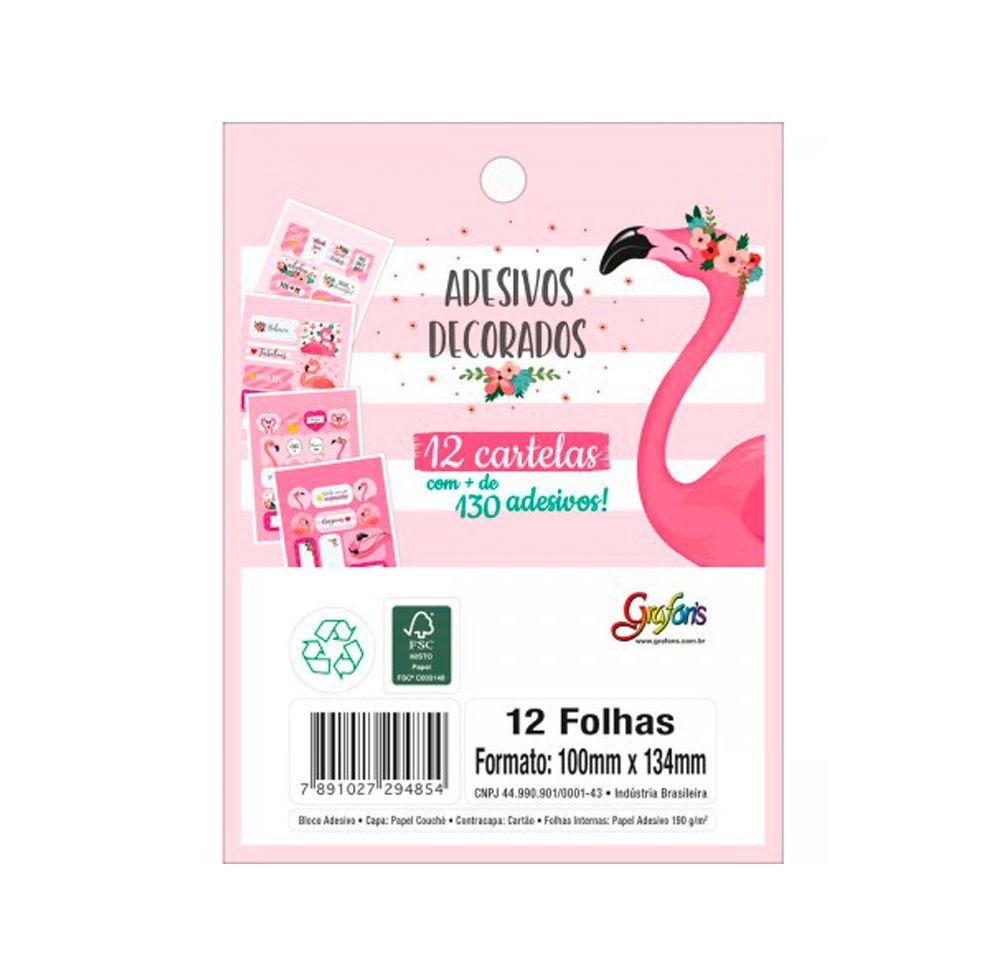 Adesivo Flamingo Aloha