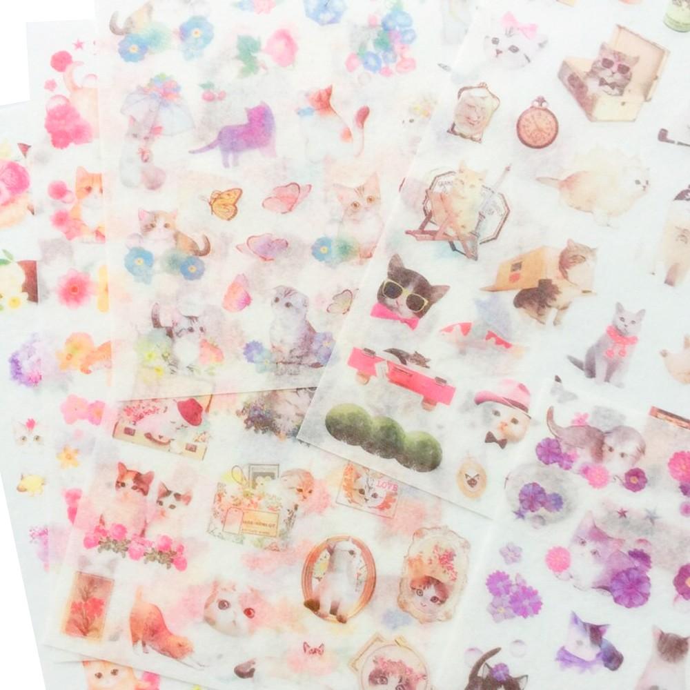 Adesivo Washi Cats - 6 folhas
