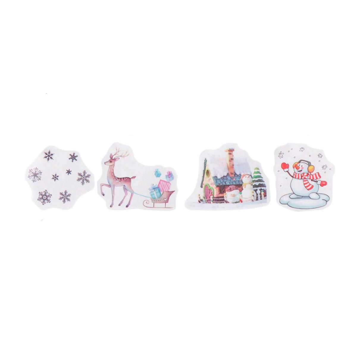Adesivos de Natal em Rolo de Washi Tape