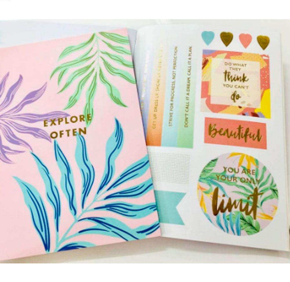 Caderno de Adesivos Explore Flowers