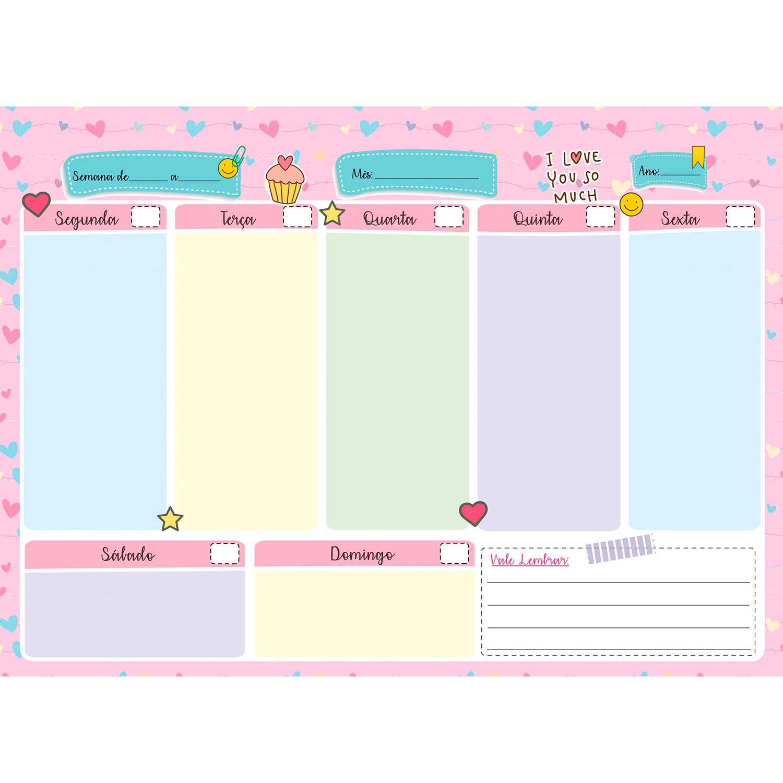 Easy Planner de Mesa Semanal e Mensal