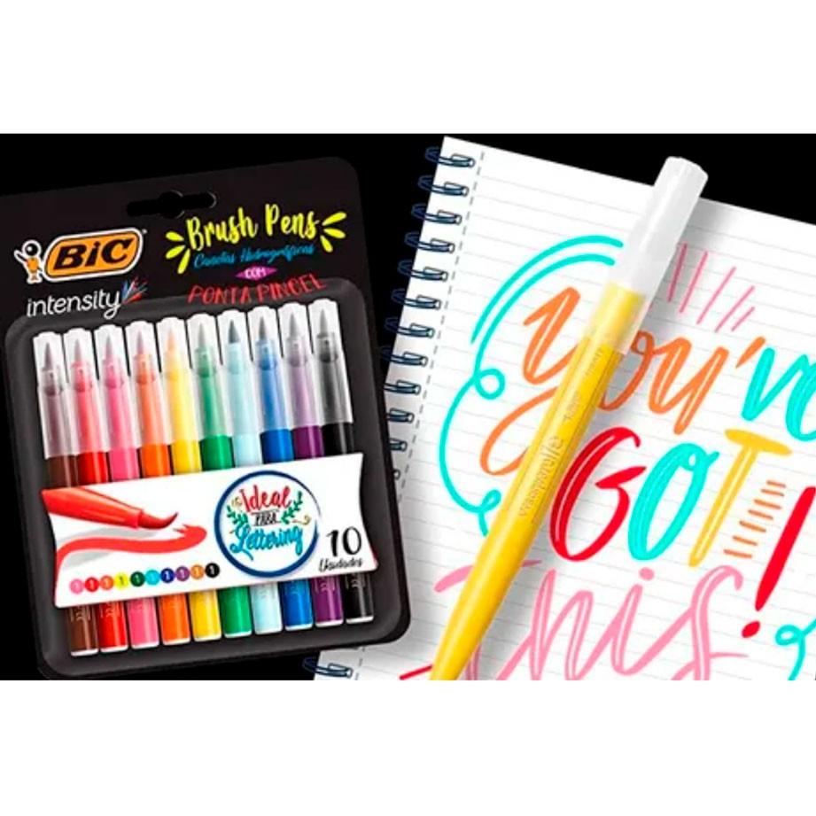 Conjunto Brush Pen Intensity - 10 unidades