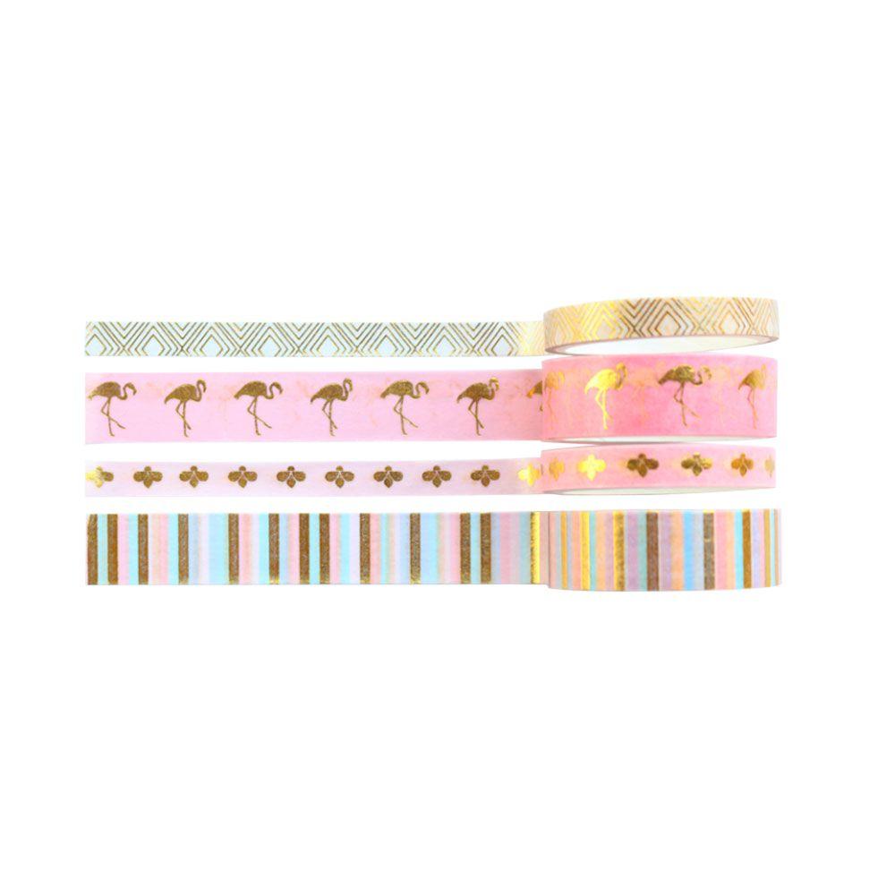 Kit Washi Tape Paradise - 4 unidades
