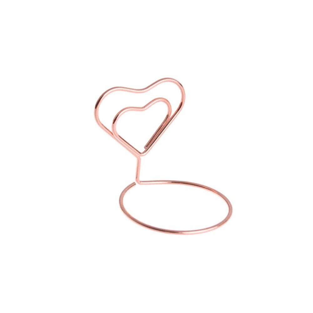 Porta Lembrete Coração Rose Gold
