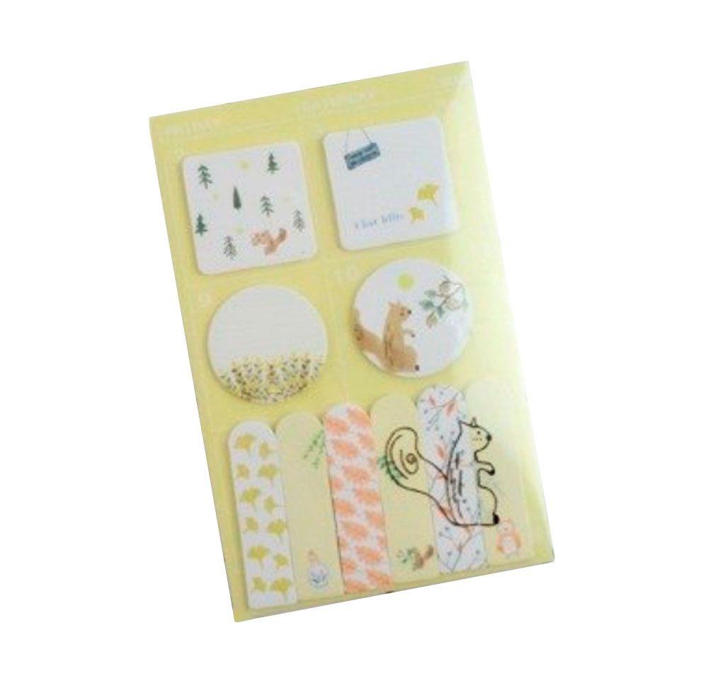 Sticky Note/Post-it  Schedule Marker Bichos com Pasta