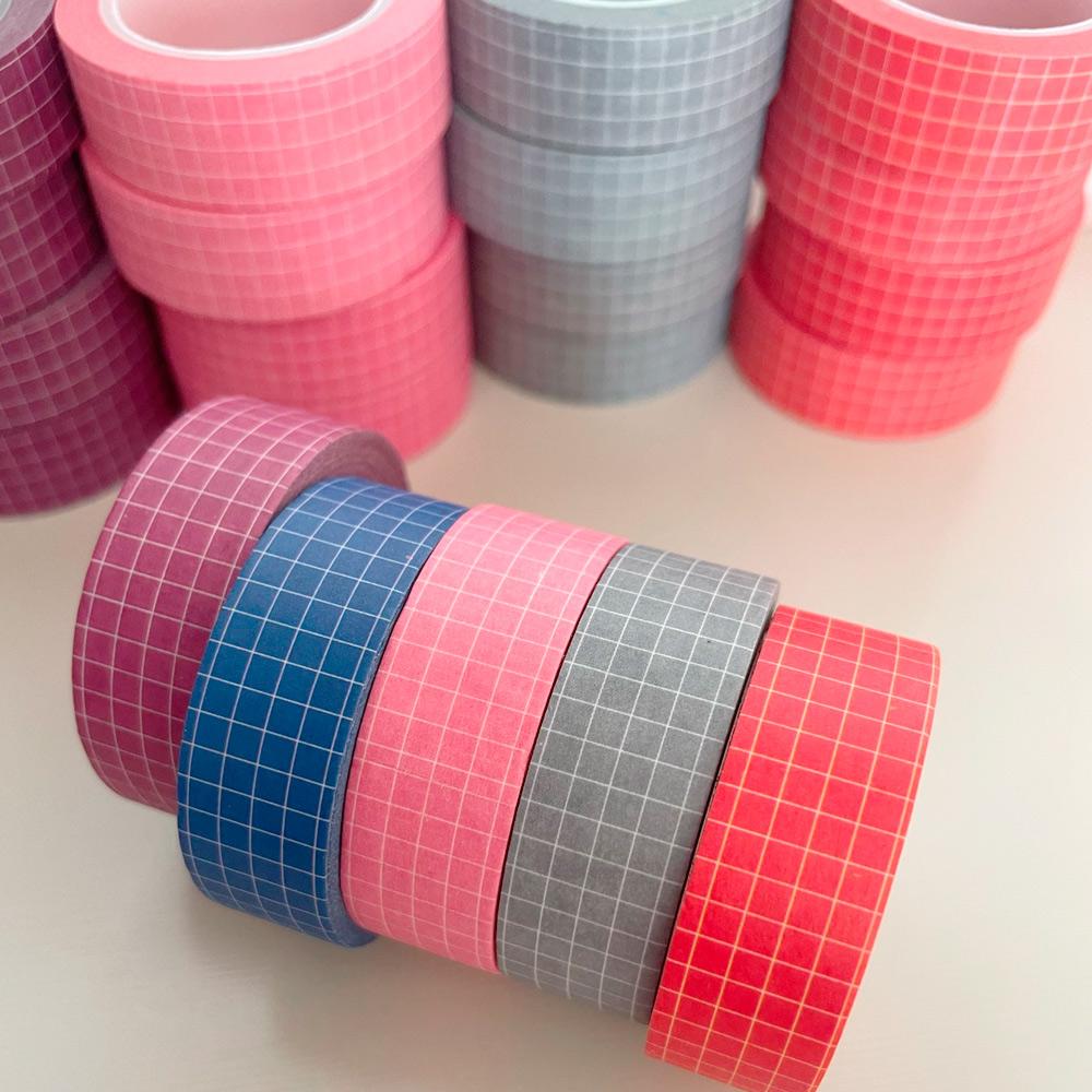 Washi Tape Grid - 10 cores diferentes