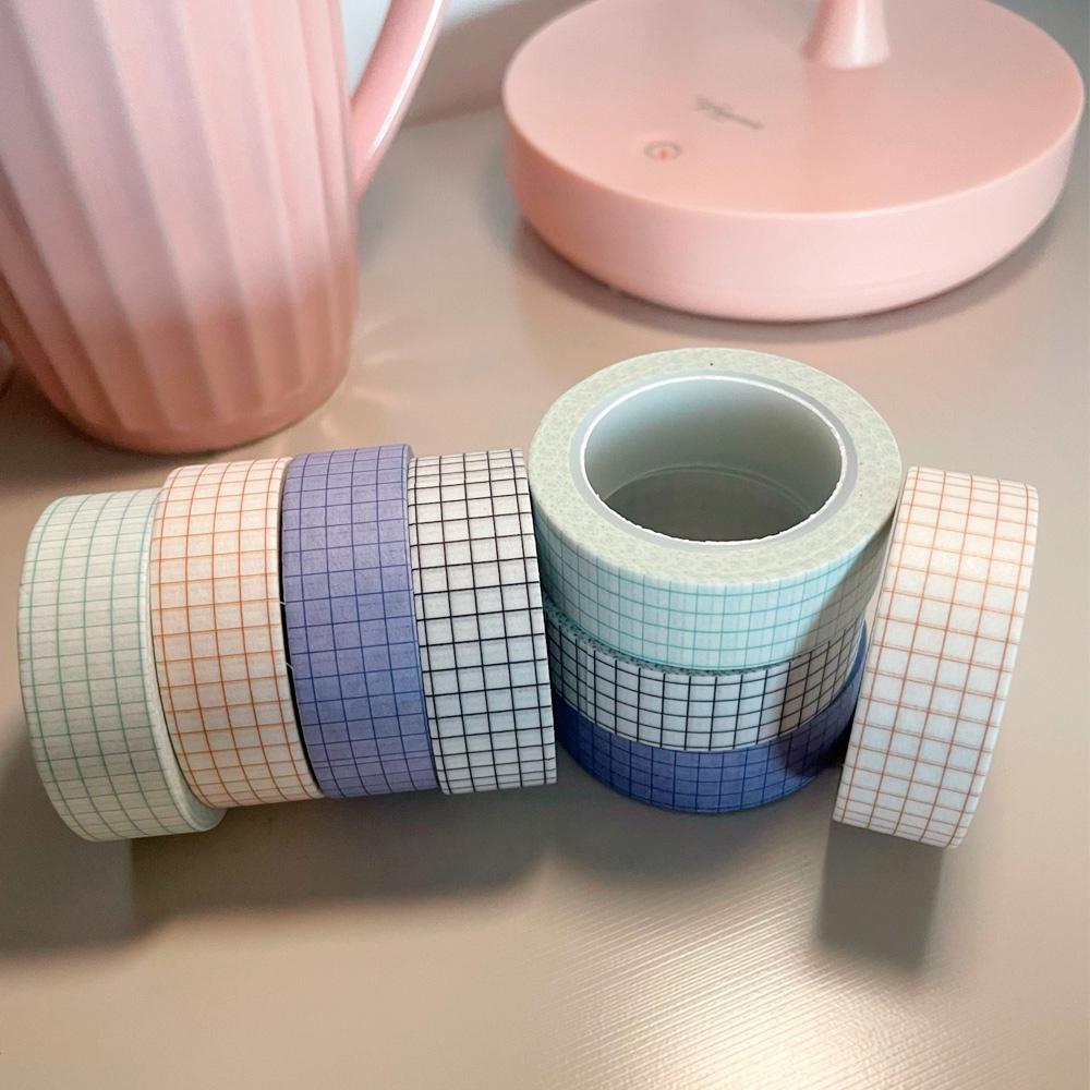 Washi Tape Grid Listras Coloridas  - 4 modelos
