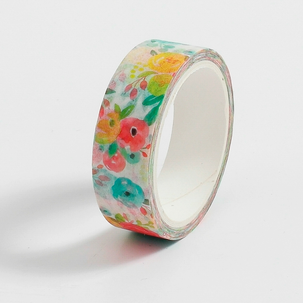 Washi Tape Watercolor Flowers