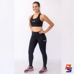 Calça de Compressão c/ Bolso (Feminina) - Preta| JUST RUN