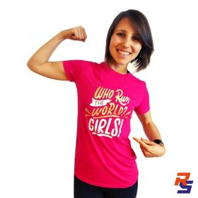 Camiseta de Corrida Feminina - Who Run The World | LONGÃO