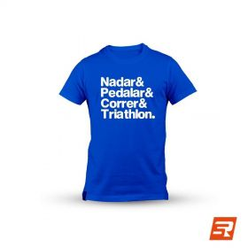 "Camiseta ""Nadar & Pedalar & Correr & Triathlon"" - Unissex 
