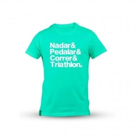 "Camiseta ""Nadar & Pedalar & Correr & Triathlon"" - Baby Look 