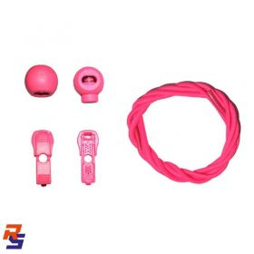 Coollace Cadarço Elástico - Pink Flúor | CIA COOL