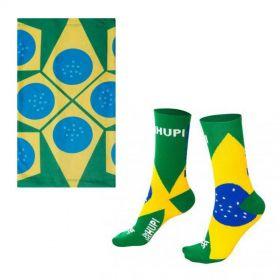 Kit Brasil (Meia e Bandana) | HUPI