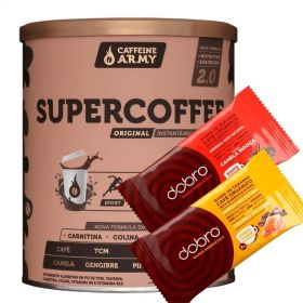 Kit Energizante (SuperCoffee e Barra Dobro) | CAFFEINE ARMY