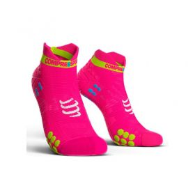 Meia Cano Curto - Run Low V3 - Fluo Rosa | COMPRESSPORT