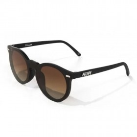 Óculos de Sol Tulum Preto com Lente Marrom Espelhado | HUPI