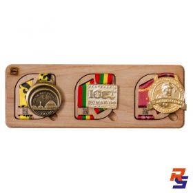 Porta Medalhas Magnético - Triplo | HOBBY MEDALS
