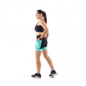 Shorts de Compressão c/ Bolso e Cós Alto (Feminina) - Marine| JUST RUN