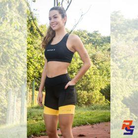 Top Alta Sustentação Feminino - Preto| JUST RUN