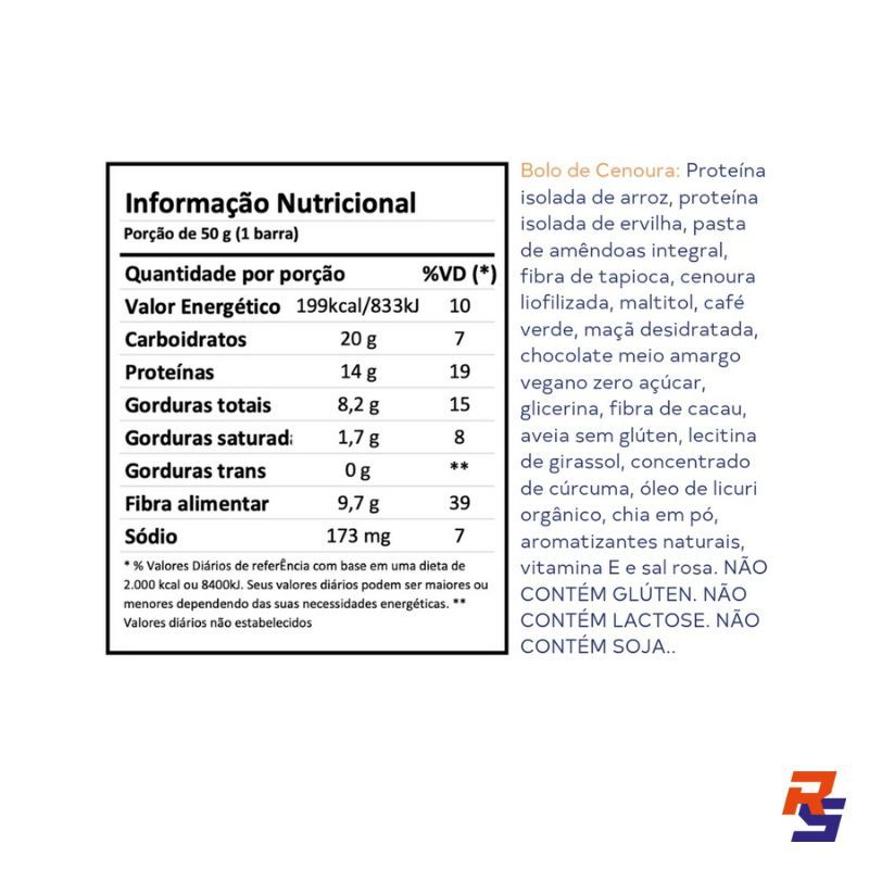Barra de Proteína com Cafeína - Bolo de Cenoura | DOBRO