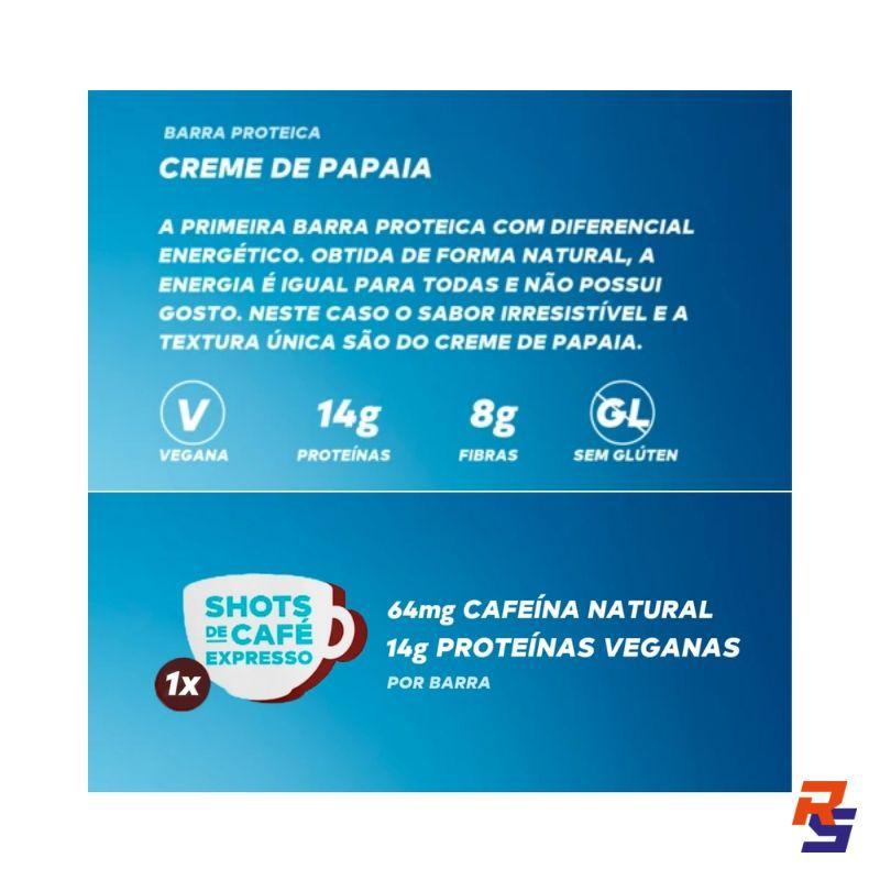 Barra de Proteína com Cafeína - Creme de Papaia   DOBRO