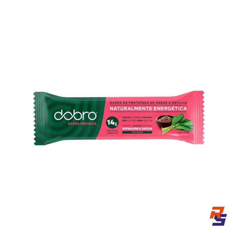 Barra de Proteína com Cafeína - Espinafre e Grãos | DOBRO