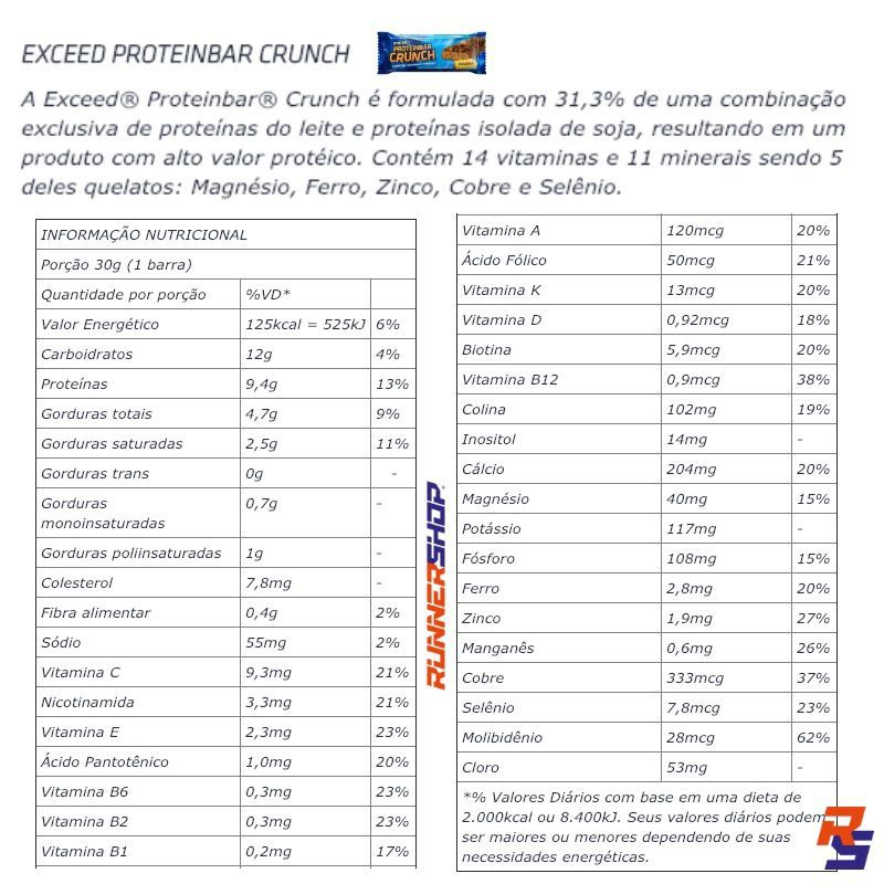 Barra Proteica - Exceed Protein Bar Crunch | ADVANCED NUTRITION