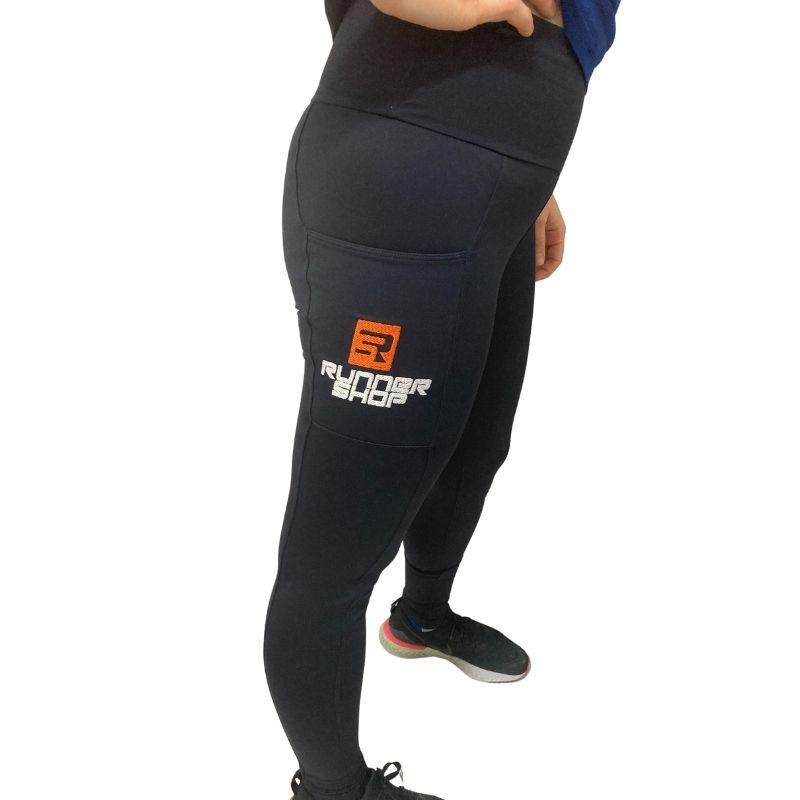 Calça de Compressão c/ Bolso (Feminina) - Preta| RS TEAM