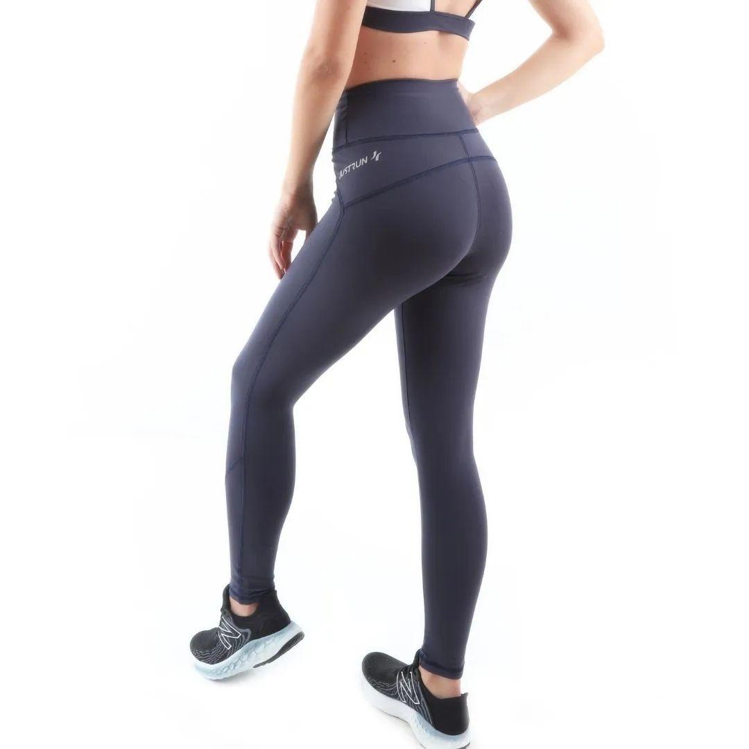 Calça Legging Fusion c/ Bolso (Feminina) - Preta  JUST RUN