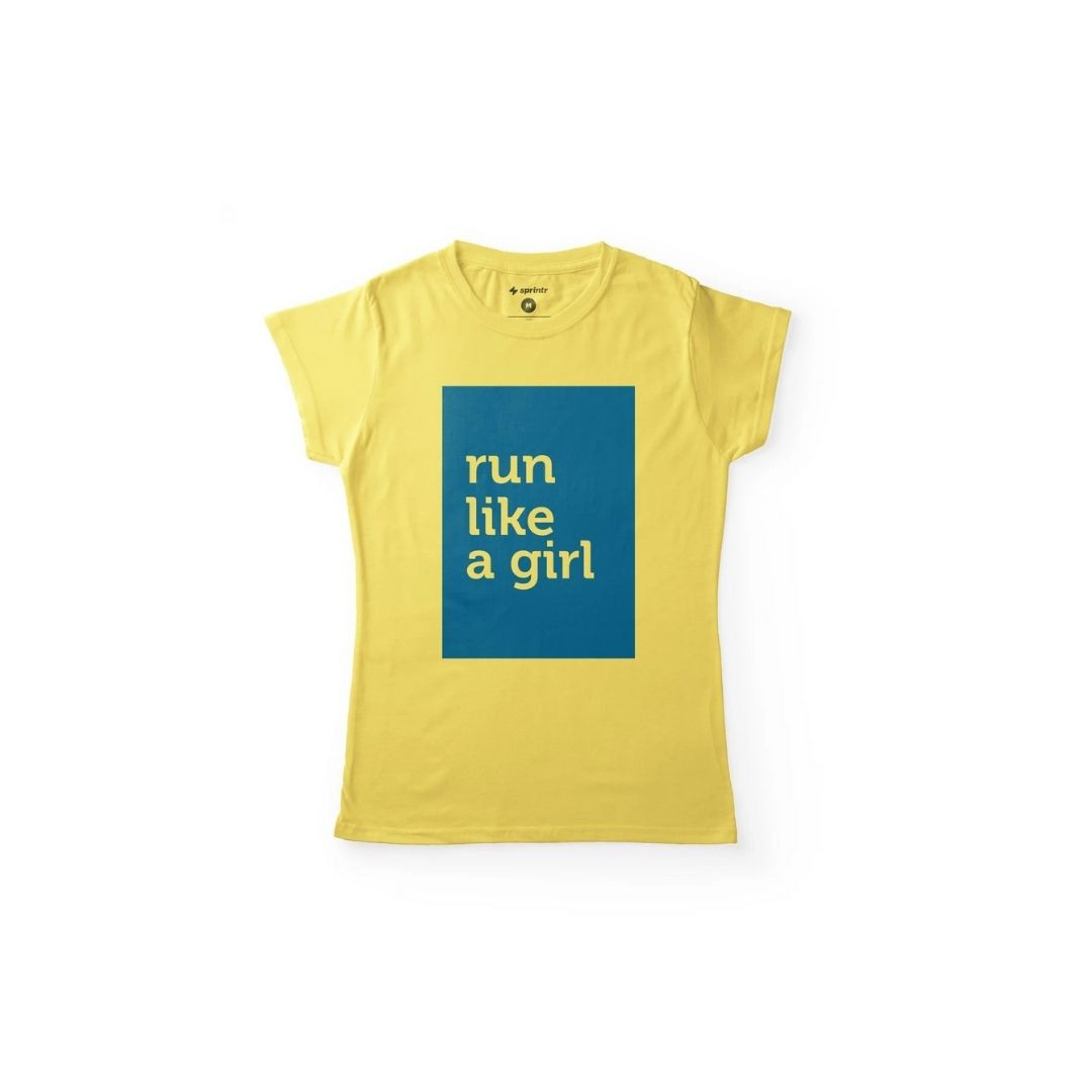 Camiseta Casual Baby Look - Run Like a Girl | SPRINTR