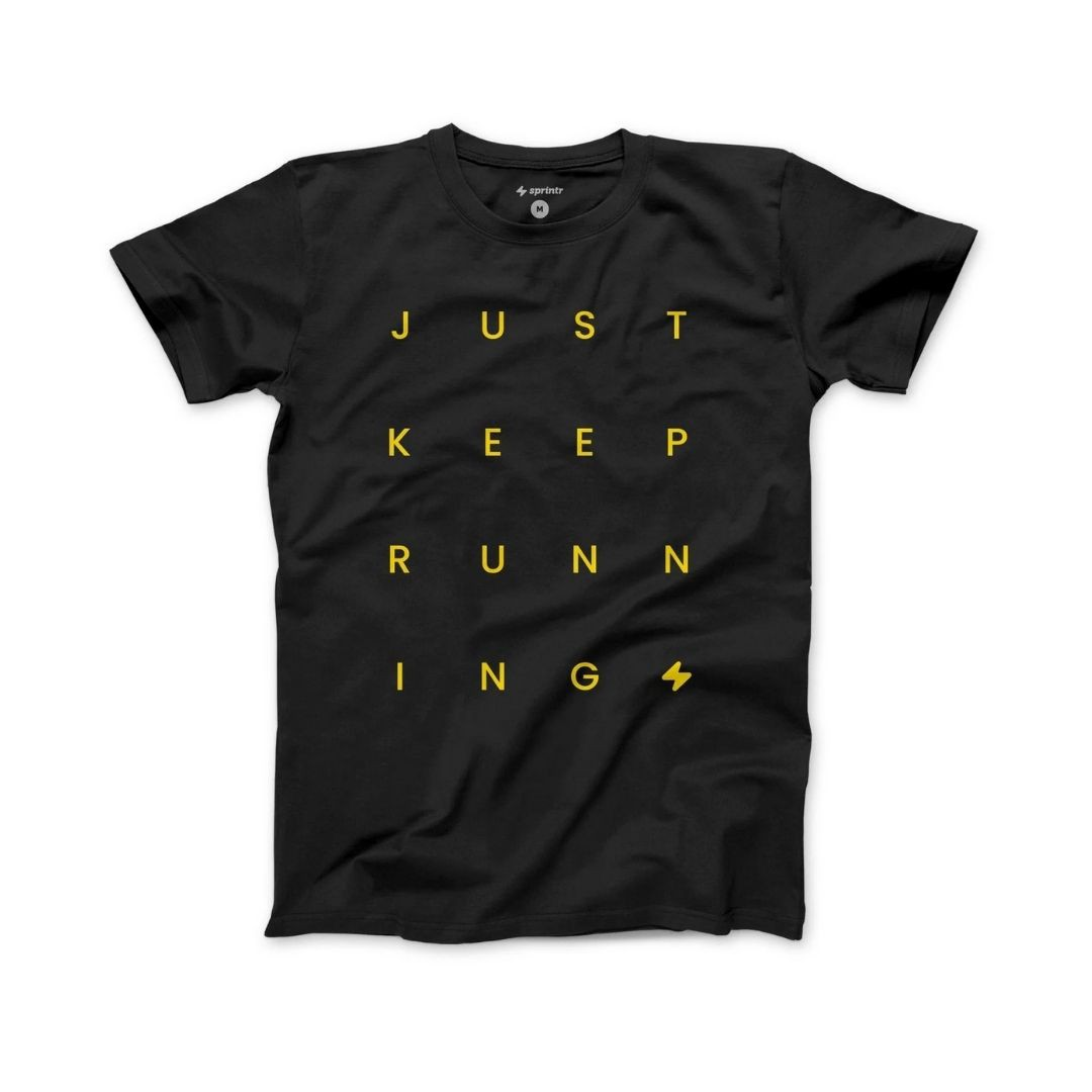 Camiseta Casual Unissex - Just Keep Running | SPRINTR