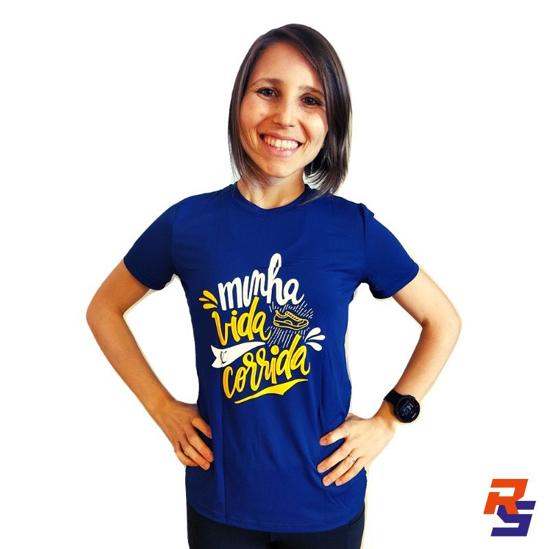 Camiseta de Corrida (Feminina) - Minha Vida é Corrida | LONGÃO