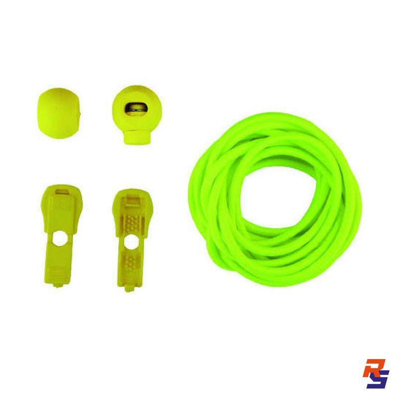 Coollace Cadarço Elástico - Amarelo Fosforescente   CIA COOL