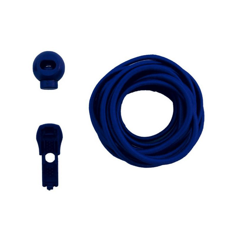 Coollace Cadarço Elástico - Azul   CIA COOL