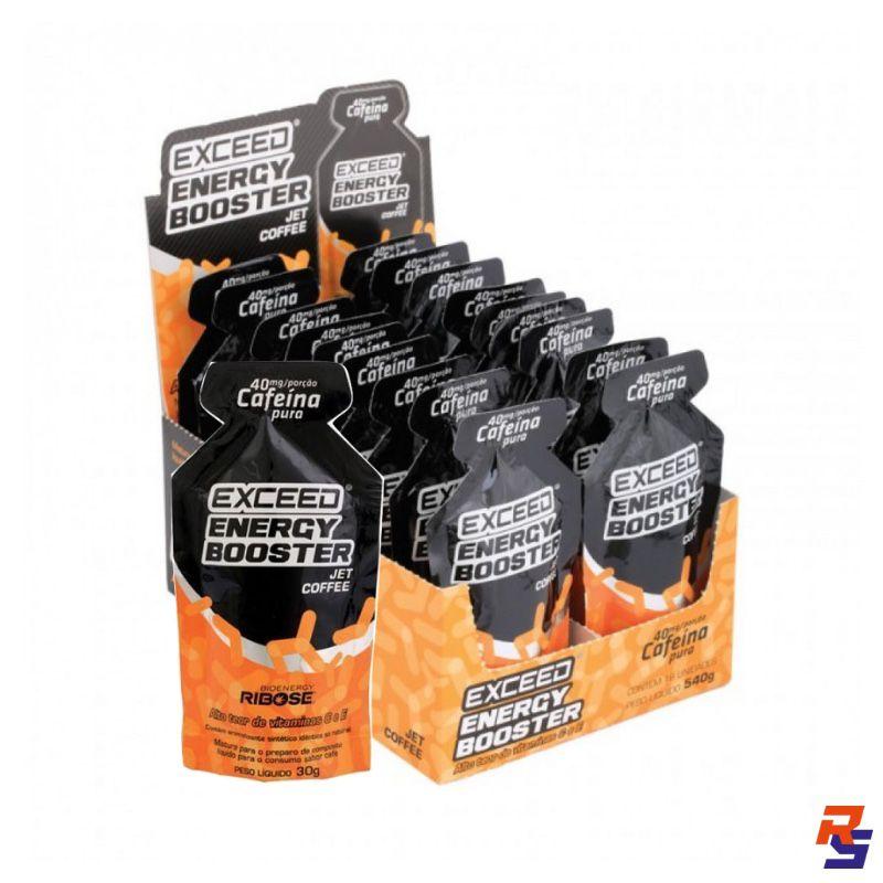 Gel de Carboidrato (c/ 40mg de Cafeína) - Cx. 10 unidades | EXCEED