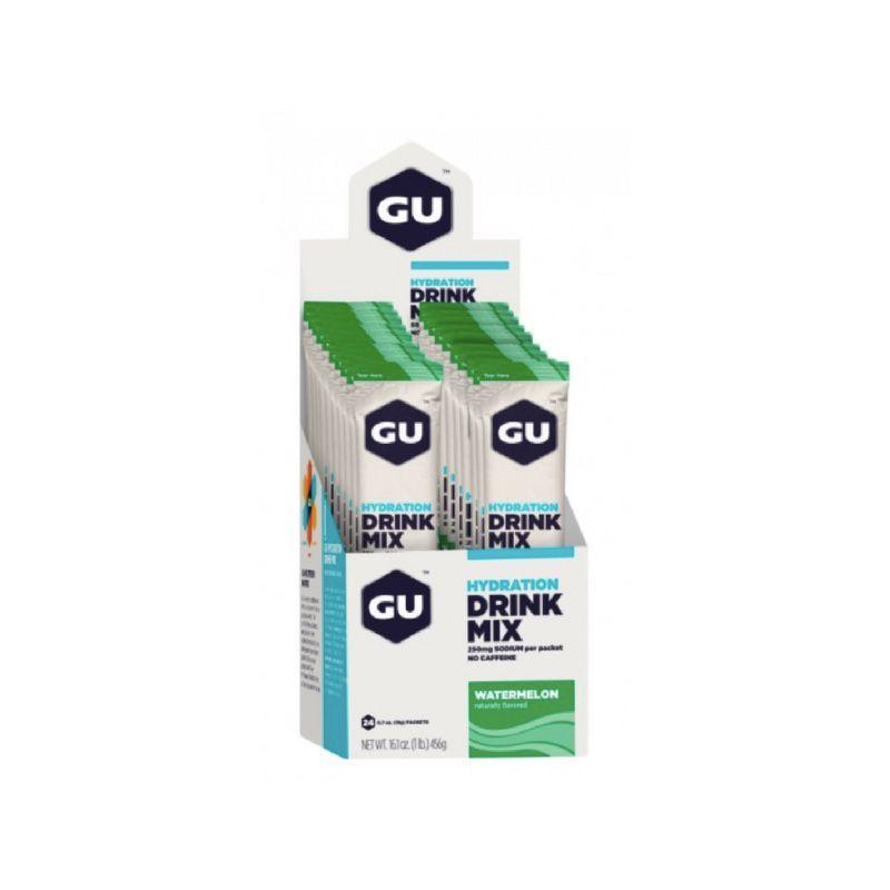 Hidroeletrolítico Drink MIX - Cx. 24 unidades (Vários Sabores)   GU Energy