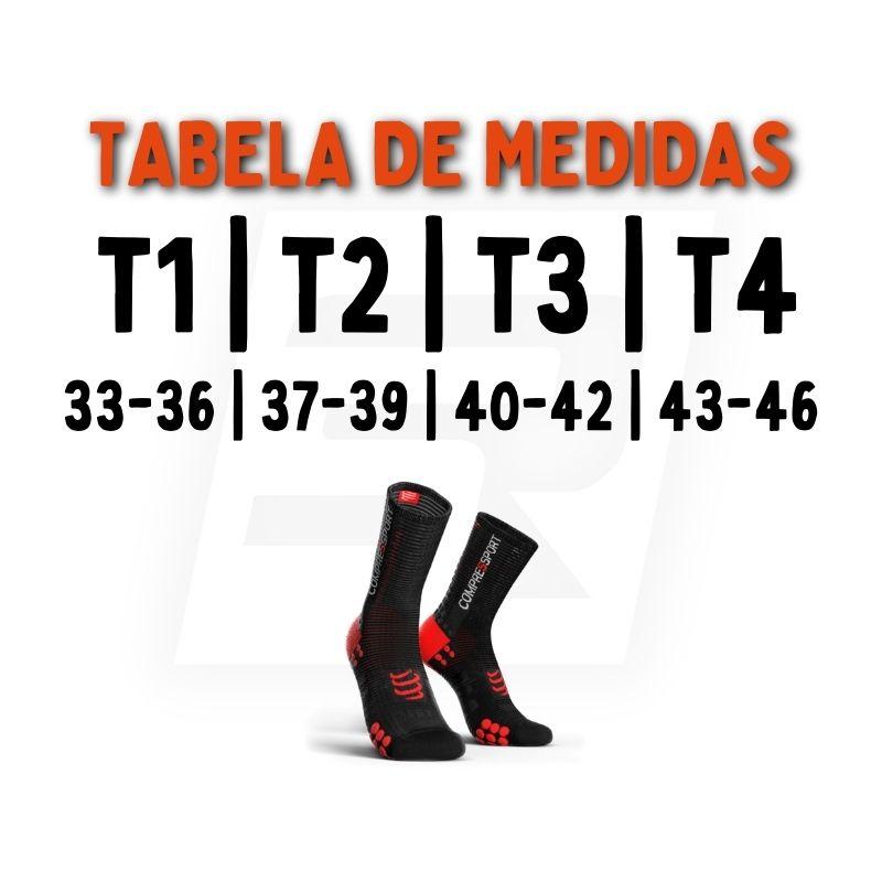 Meia Cano Médio - Run High V3 - Preta | COMPRESSPORT