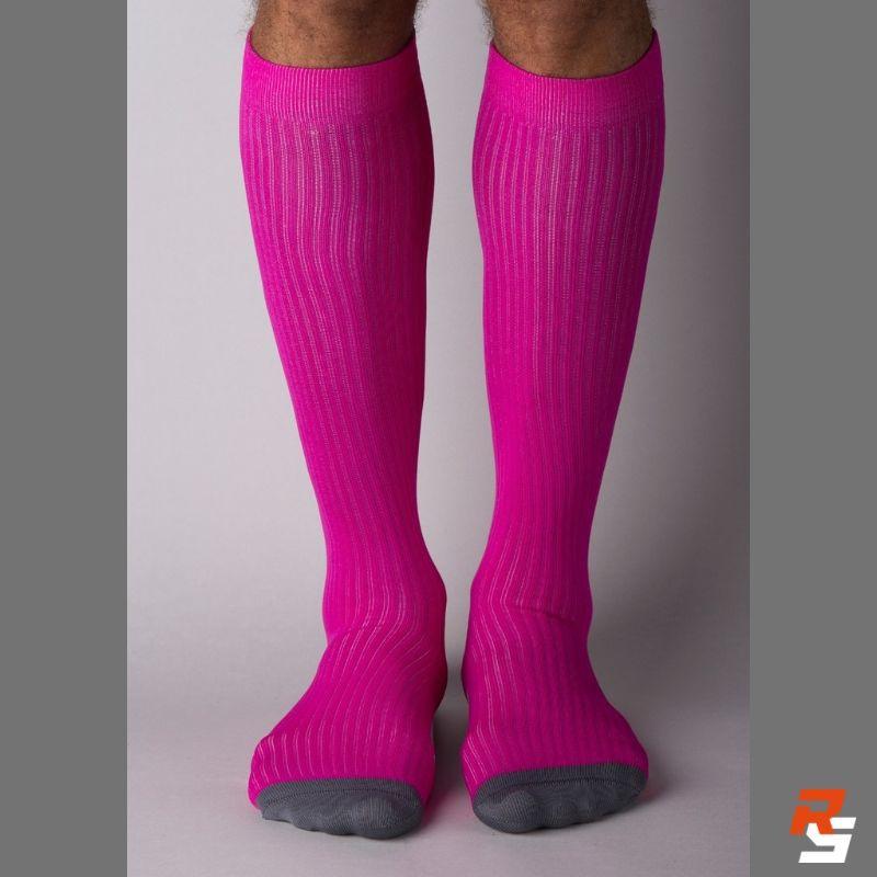 Meia de Compressão Cano Longo - Pink Liso | VISTHO