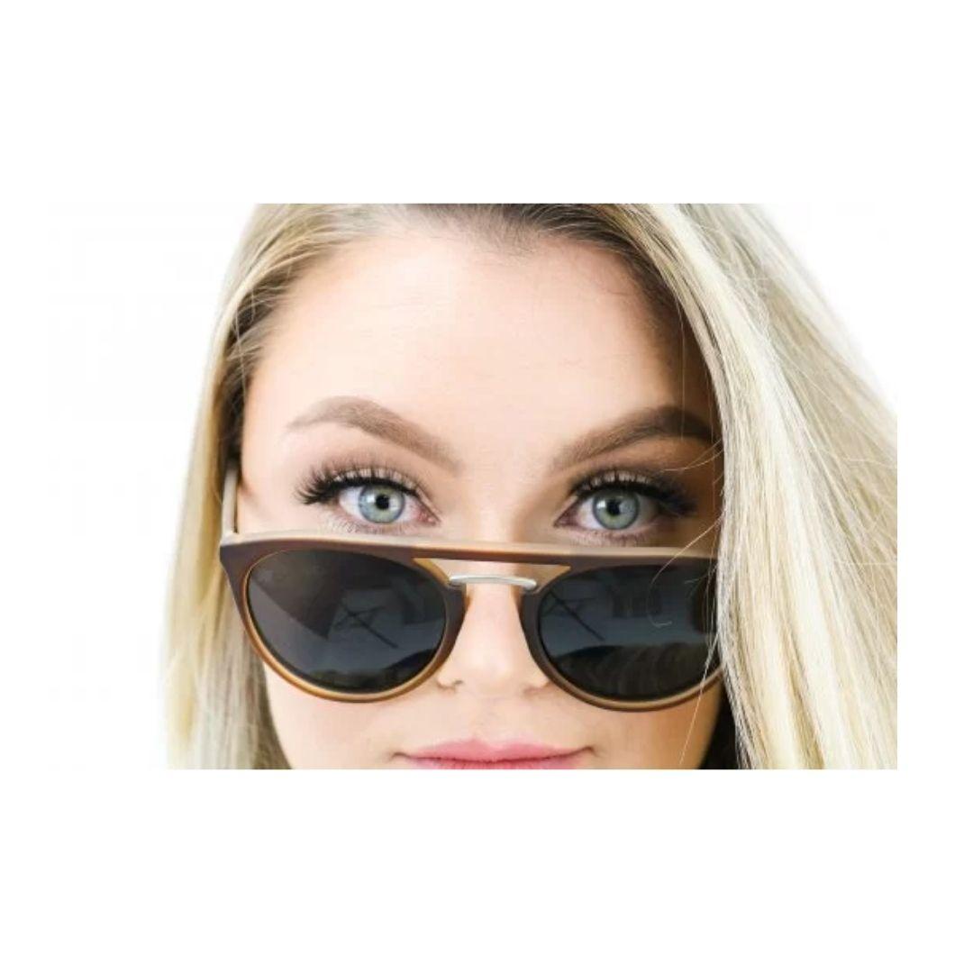 Óculos de Sol Ibiza - Marrom Fosco | HUPI