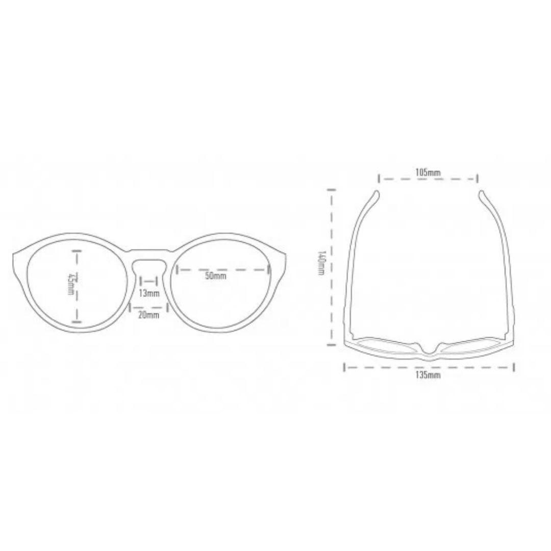 Óculos de Sol Kona - Preto com Lente Verde | HUPI
