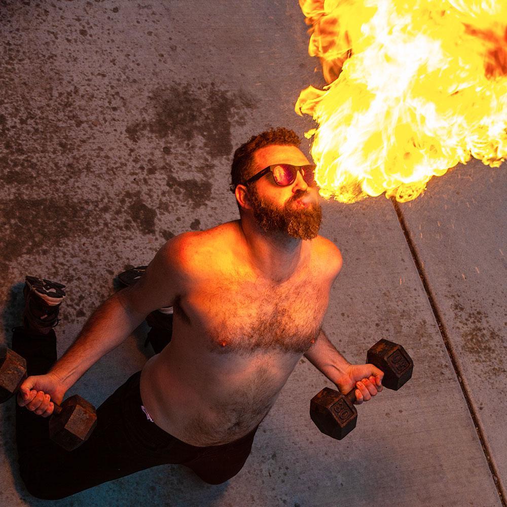Óculos de Sol - Tamanho BIG - Firebreather's Fireball Fury | GOODR
