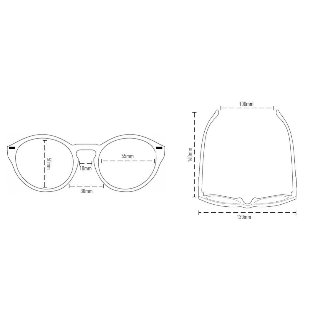 Óculos de Sol Tulum Preto com Lente Verde | HUPI