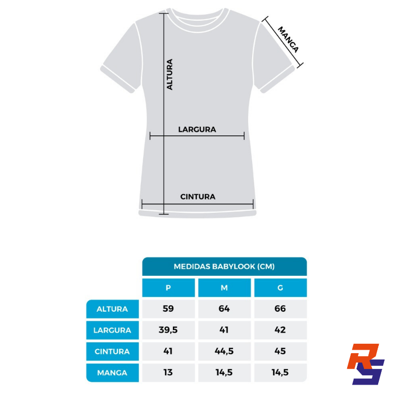Camiseta TEAM - Baby Look | RS TEAM