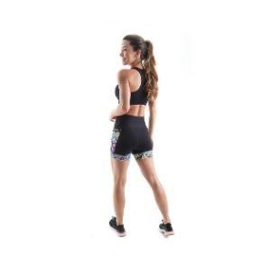 Shorts de Compressão c/ Bolso e Cós Alto (Feminina) - Skull| JUST RUN