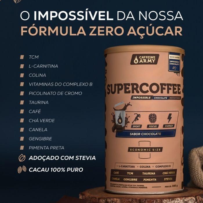 SuperCoffee Impossible Chocolate Economic Size | CAFFEINE ARMY